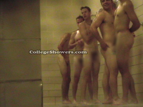 College Guys In Tats Showering